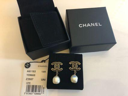 全新 Chanel 珍珠耳環 Pearl Earrings (100% Authentic)
