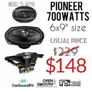 """👍👍Pioneer 700W Max (120W RMS) 6"""" x 9"""" A-Series 5-Way Coaxial Car Speakers.Model:TS-A6990F. Usual Price : $229. Special Price :$148 (Brand new in box with sealed)"""