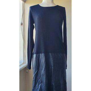 DECJUBA Fine Knit Wool Long Sleeve Dress Sz M in VGC