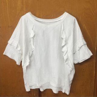NEW白色花邊衫
