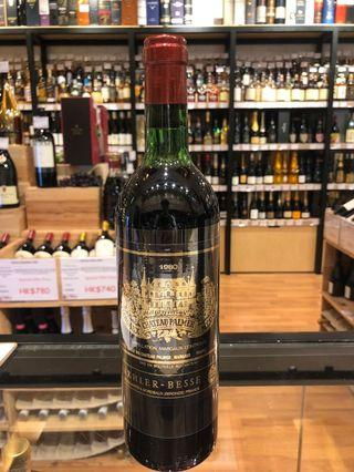 舊酒 1980 Chateau Palmer 紅酒 red wine