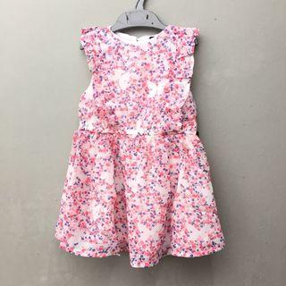 <new> red flowers dress