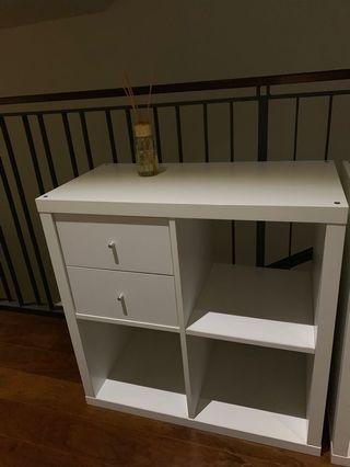 Ikea shelve and drawer units