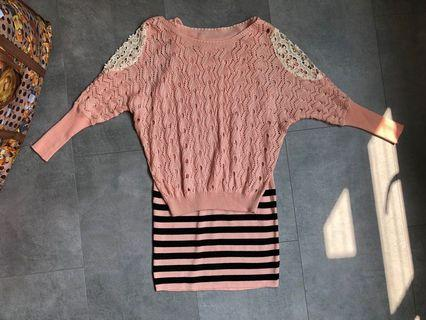 Peach 2 piece dress