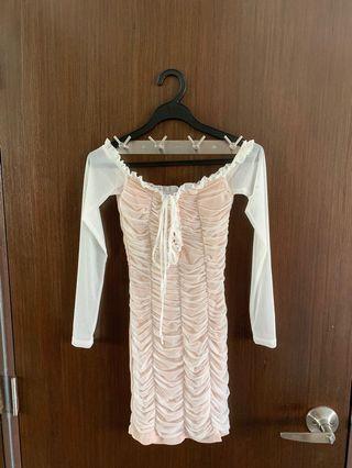 Brand new fashion nova Maura dress in white