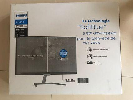 全新行貨(有單+保養)Philips 23吋電腦monitor顯示屏