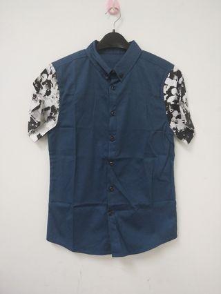 Contrast sleeveless shirt