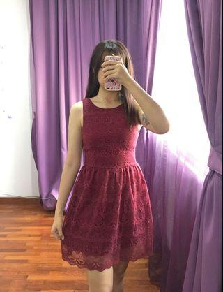 Lacey short red dress