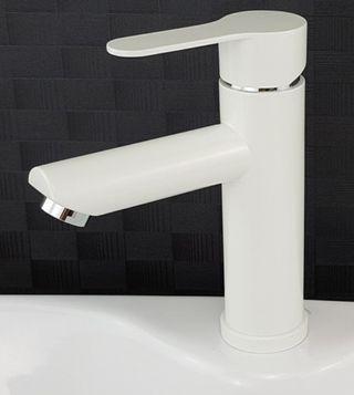 White Basin Mixer tap