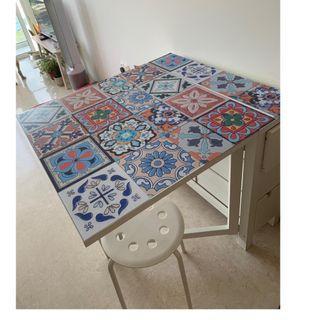 NORDEN Gateleg table, white IKEA