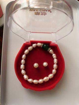 Bracelet n Earing Pearl