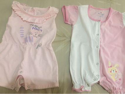 Hello Dolly Baby Rompers (2 pcs)