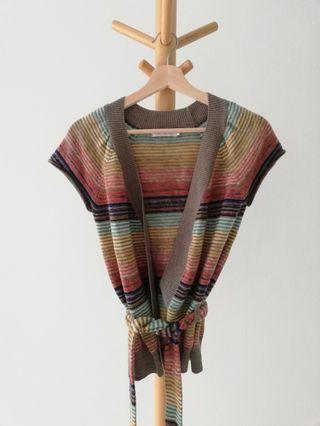 Topshop Multicolour Knitted Sleeveless Cardigan