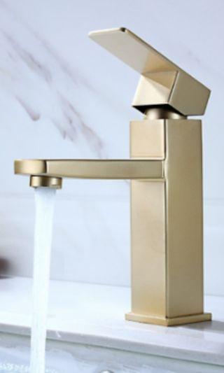 Gold Basin Mixer tap