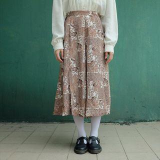 🚚 Vintage變形蟲圖騰古著褲裙