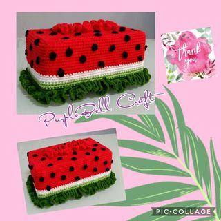 Crochet Watermelon Tissue Box