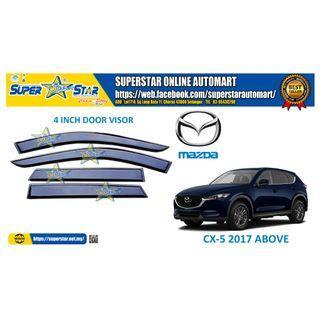 Mazda CX-5 2017 Above Door Visor Air Press Car Window Door Visor Wind Deflector Anti UV Light 4 inch (4pcs)