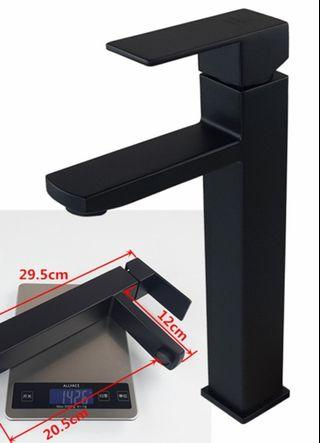 🚚 Black Basin Mixer Tall tap