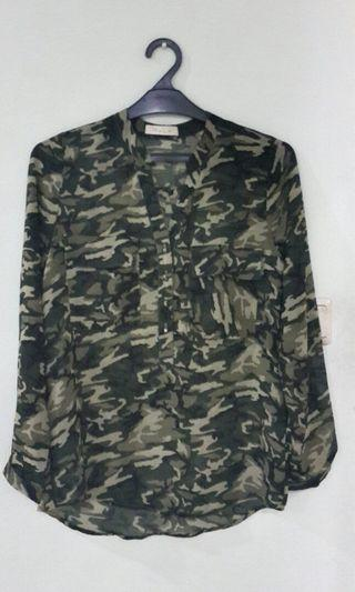Army Style Blouse