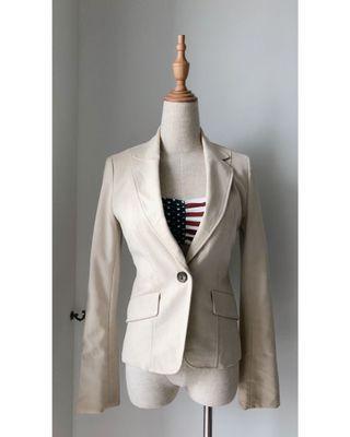 Off white casual blazer