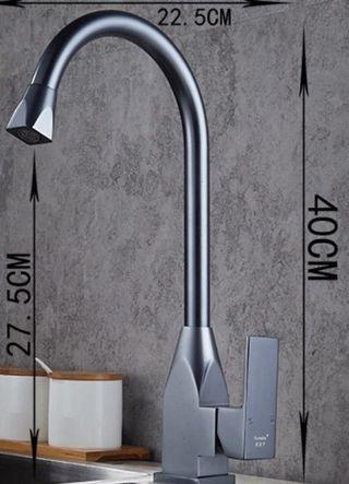 🚚 Grey Kitchen Sink Mixer Tap