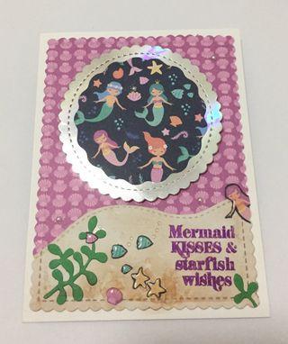 🚚 Handmade Birthday Card (Mermaid)