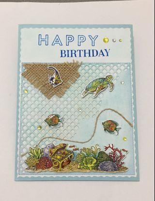 🚚 Handmade Birthday Card