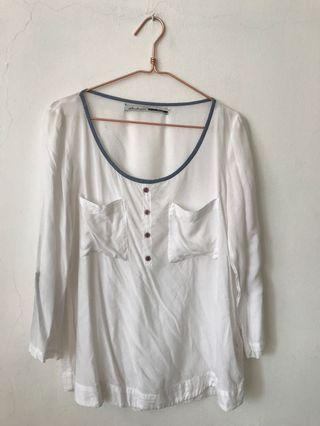 Stradivarius White Blouse