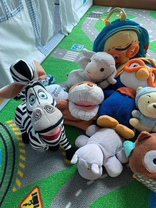 Soft Toys ( pororo, Pooh and many more )