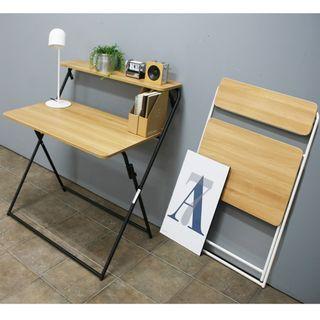 雙層折疊枱($498)電腦枱書枱書桌便攜簡易辦公桌家用學習寫字台小桌子折疊電腦桌