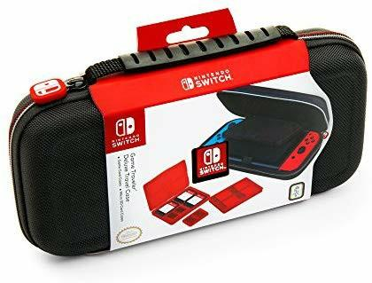 Official Nintendo Switch Carrying Case – Protective Deluxe Travel Case – Black Ballistic Nylon Exterior