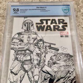 Star Wars #1 Cargo Hold Sketch variant RARE CBCS 9.8
