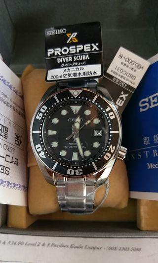 Seiko prospex black sumo sbdc031 japan model 6r15