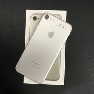 iPhone 7 32gb Silver ex inter Fullset mulus Ex internasional