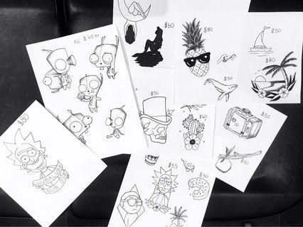 Tattoos $80 🌹