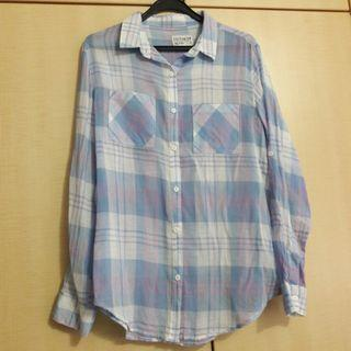 Light Blue checkered flannel