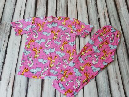 Bnew Animals Pink pajama fits 3 to 5 yrs old