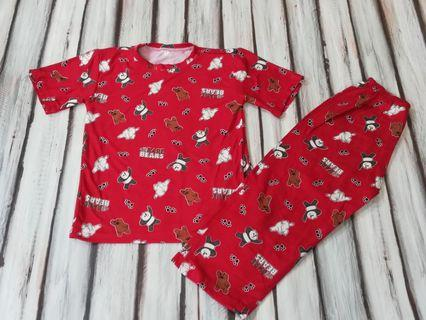 Bnew Bare Bears Red Pajama fits 3 to 5 yrs old