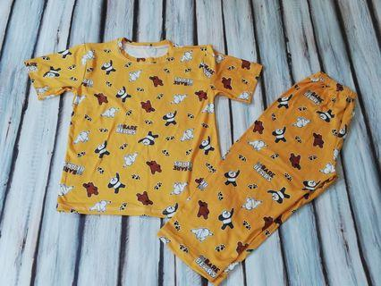 Bnew Bare Bears Yellow Pajama fits 3 to 5 yrs old