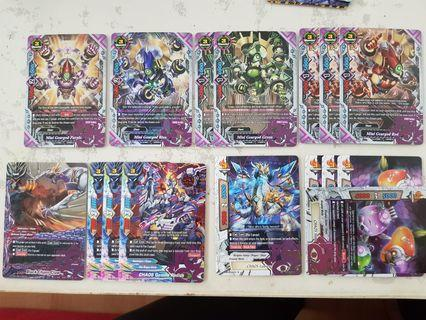 Buddyfight CHAOS cards RESERVED