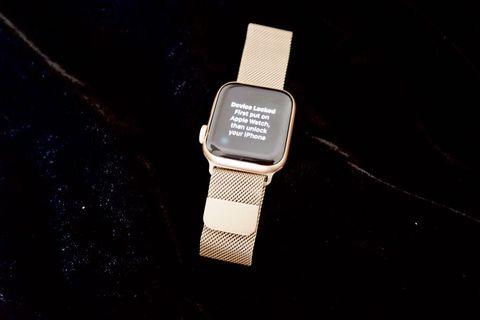 Apple Watch Strap rose gold steel mesh