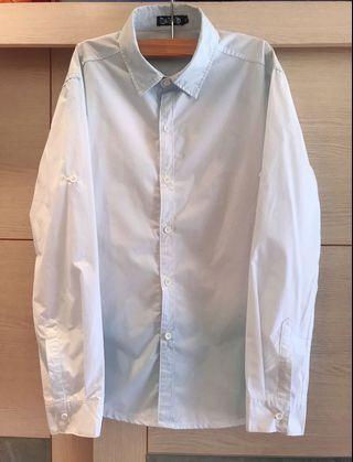 🚚 專櫃品牌 MADELI 上下藍白漸層長袖襯衫(男)