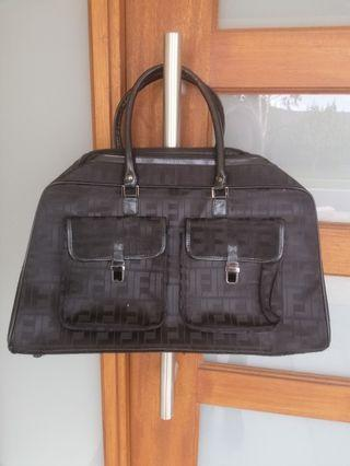 Look alike FENDI black large overnight travel bag luggage