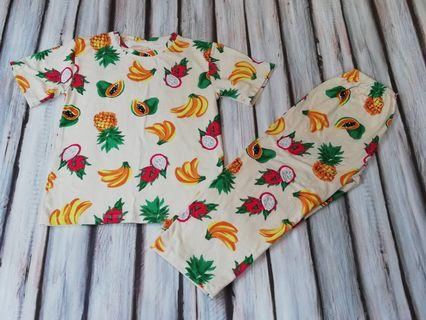 Bnew Fruits Cream Color Pajama fits 3 to 5 yrs old