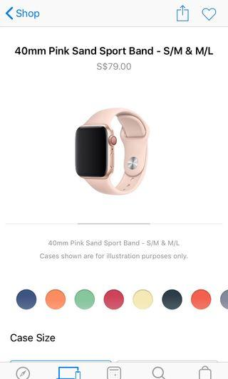 Apple Watch 38/40mm authentic pink sand sports band