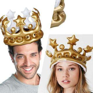 🚚 Gold Inflatable Crown👑(Party/Celebration/Birthday/Anniversary/Proposal/Gift)#ENDGAMEyourEXCESS