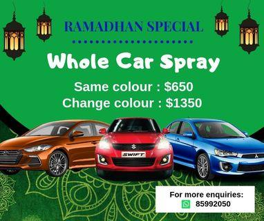 FULL CAR SPRAY PUASA PROMO!