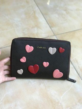 Milk Teddy sling bag/clutch Brown with love