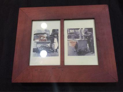 復古相框木盒-雙格大