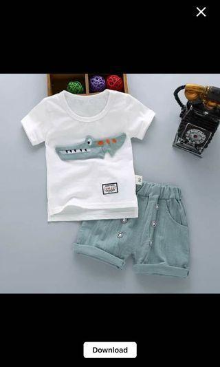 Baby Set baju anak buaya